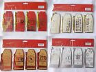 40 Deluxe Christmas Gift Tags with Fun Sayings & Greetings in Red, Gold, Silver