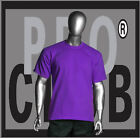 1 New Mens Pro Club Heavyweight Purple Blank T Shirt M to 3XL PROCLUB