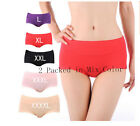 2 Pairs  New Women  High elastic  Briefs Underwear Knickers Size  2XL 3XL 4XL