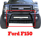 Black Bull Bar Bumper Grille Guard with Skid+126W Cree LED Light Bar+ Wiring Kit