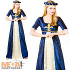Medieval Maiden Ladies Fancy Dress Tudor Renessiance Womens Adult Costume Outfit