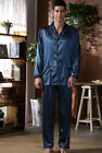 Long Sleeves trousers Silk Blend 2pc Men's Sleep Wear/ Pajama Sets L/XL/2XL/3XL