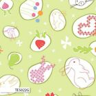 BUNNY TRAIL MAIN GREEN JODIE CARLETON KIDS QUILT SEWING FABRIC *Free Oz Post