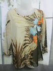 GERRY WEBER SIZE 18 FLORAL PRINT  CASUAL WORK OR PLAY STRETCH TOP BW8