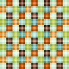 DINO-RIFFIC GINGHAM CHECK ORANGE BLUE QUILT SEW CRAFT FABRIC **Free Oz Post