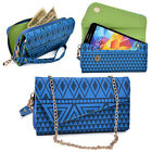 Convertible Aztec Smart-Phone Wallet Case Cover & Crossbody Clutch MLUC1