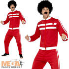 Scouser Tracksuit Mens Fancy Dress 1980s Retro Sports 80s Adult Costume Outfit