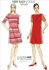 Vogue 9183 VERY EASY Short Sleeves Colourblock Dress Sewing Pattern V9183 2in1