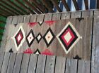 "Vintage Native American Indian Navajo Artwork Rug Brown Tan Red 59"" x 21"""