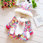 Baby Girls Coat Scarf Hooded Jacket Winter Thick Warm Clothes Outerwear 6-36 M