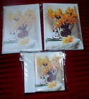 12 &15 PACK OF DAFFODIL GIFT OR LETTER NOTELETS  by SELF-REP' ARTIST [FREE P&P]