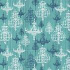 SHABBY CHANDELIER TEAL CHIC QUILT SEW CRAFT FABRIC **Free Oz Post