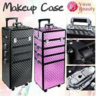 4 In 1 Portable Cosmetics Beauty Case Makeup Box Hairdressing Nail Art Trolley