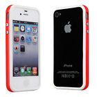 TPU Bumper Frame Rubber Case open Back Cover for Apple iPhone 4 4G 4S
