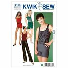 Kwik Sew 2723 Dance Gym Wear Pants Trousers Top Shorts Sewing Pattern K2723