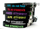 Dog collar personalised embroidered with metal buckle