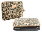 "Canvas Leopard 13"" 13.3""Laptop PC Cover Sleeve Bag Notebook Case For Lenovo Asus"