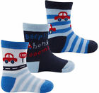 Newborn Baby Boys Girls Cotton Rich Novelty Car Animal Hearts Socks 3 Pack Gift