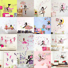 Flower Girl Vinyl Decal Mural Removable Wall Art Sticker DIY Home Room Decor