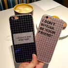 Creative Grid Giltter Bling Case Soft IMD TPU Rubber Cover For iPhone 6 6S Plus