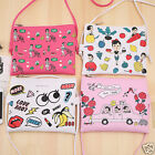 Graffiti Print Soft Leather Bag Women Designer Shoulder Bag Messenger Bag