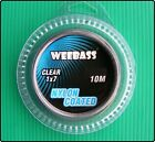 10m Weebass 7 Strand Fishing Clear Nylon Coated Wire Trace With Crimps