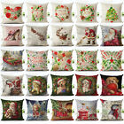 Merry Christmas Cotton Linen Pillow Case Standard Pillow Cover Home Decor