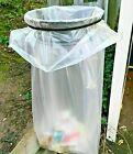 Clear Bin Liners Bags Refuse Sacks Heavy Duty Home Kitchen British Made