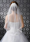 2018 New Simple white ivory 1T Wedding Bridal Elbow Satin Edge Veil With Comb