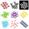 100pcs Wholesale Twelve Assorted Color Smooth Resin Bead Fit European Charms C