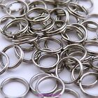 50, 100 or 200 x Dull Silver Tone Double Loop Jumprings Split Open Jump Rings