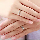 GIFT Womens Mens Forever Silver Plated Crystal Ring Lovers Engagement Wedding