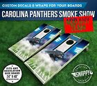 Carolina Panthers Smoke Cornhole Vinyl Decals, Bag Toss Board Wraps, Vinyl Wrap on eBay