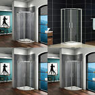 900x900mm Quadrant Shower Enclosure Corner Cubicle Glass Screen Door And Tray