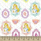 DISNEY ALICE IN WONDERLAND TEA TIME CRAFT SEWING QUILT FABRIC Free Oz Post