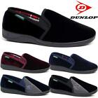 MENS SLIPPERS DUNLOP WARM TWIN GUSSET SLIP ON WINTER VELOUR INDOOR SHOES SIZE
