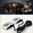 2Pcs 6th Gen Projector Laser LED Door Step Shadow Logo Light For Cars FM