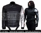 Bucky Barnes Captain America Winter Soldier Cosplay Leather Jacket