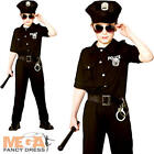 New York Cop Boys Fancy Dress USA Police Uniform Kids Childrens Costume Outfit