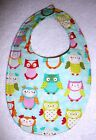 BABY BIBS~GIRLS DRESSY BIBS~Fabric~Reversible~Washable~Hidden Snap~NEW~FREE SHIP