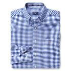 Gant Mens Designer Poplin button Gingham Check Long Sleeved Shirt Blue & White