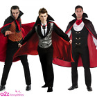 ADULT MENS HALLOWEEN VAMPIRE COUNT DRACULA TRANSYLVANIAN FANCY DRESS COSTUME