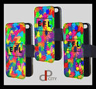 personalised initial name pattern phone case protection cover flip wallet