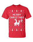 Merry Christmas Reindeer Humping Ugly Sweater Raindeer Funny Men's Tee Shirt
