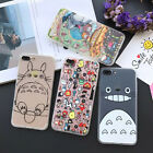 New Cute Cartoon Totoro Hybird Back Clear Case Cover for iPhone 5S 6 6S 7 7 Plus