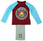 Boys Official West Ham United FC WHU Hammers Cotton Pyjamas 4 to 12 Years