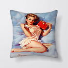 Pinup Girl Bed Printed Cushion Covers Pillow Cases Home Decor or Inner