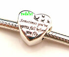 Heart of Freedom 925 Sterling Silver Fit European Charms Bracelet