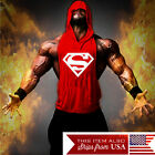Внешний вид - Hoodie Superman Tank Stringer Golds Men Bodybuilding Gym Muscle FAST SHIPPING!!!
