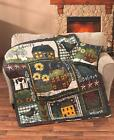 Country Primitive Simplify Quilted Throw Blanket or Accent Throw Pillow  New